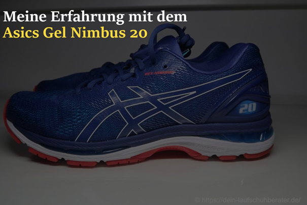 Der Asics Gel Nimbus 20 im Test - Dein-Laufschuhberater