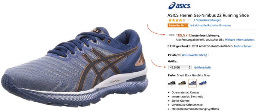 Das günstige Laufschuh-Modell